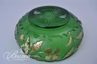 Northwood Delaware State Four Petal Flower Large Bowl and 6 Berry Bowls