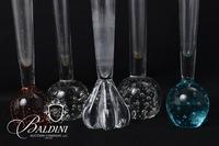 (5) Art Glass Bulb Vases