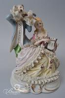Pair of Dresden Candelabras and Figurine