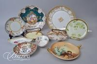 Two Chargers, Nappy Dishes and Other Hand Painted Plates Bavaria and Nippon