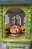 """Waterford """"Songbird Pagoda"""" Holiday Heirloom Cookie Jar"""