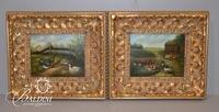 (2) R. Larson Framed Paintings on Board, Signed