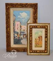 (2) Framed Cityscape Paintings