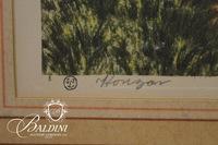"""Horizon"" Paris Etching Society Framed Art, Signed"