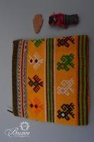 Hand Stitched Zipper Pouch, Arrowhead and Worry Doll