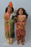 (2) Native American Dolls