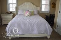 Paula Deen Home Distressed Cream Bed Frame
