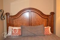 Legacy Brand Large Traditional Style Walnut Bed Frame