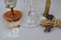Pair of Lamps and Luster Candlestick