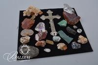 Stone and Crystal Assortment and Crucifix