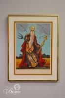 "Salvador Dali ""Moses (Tarot The Emperor)"" Framed Lithograph, 1973 Signed and Numbered 74/150"