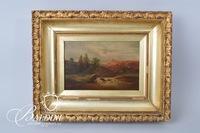 Early Framed Oil on Canvas