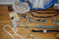 Assortment of Vintage Jewelry and Czechoslovakian Beaded Purse