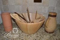 Large Wooden Bowl, Kitchen Utensils, Pitcher & Terracotta Planter
