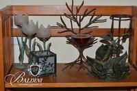 Foliate-Themed Candle Holders