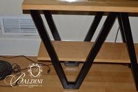 Modern Blonde Wood Console Table