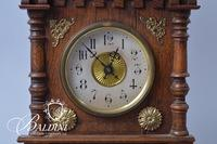 Wood and Brass Mantel Clock