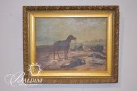 Early Framed Oil on Canvas, Signed E.Mch '97