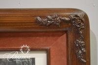 """The Meet at Blagdon"" Engraving in Nice Carved Wood Frame"