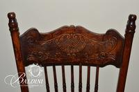 (4) Vintage Chairs with Carved Top Rails