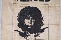 "Satin Jim Morrison ""Wanted"" Poster"