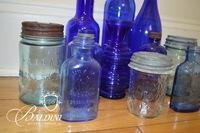 Cobalt Blue Glassware & Vintage Jars