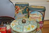 Assortment of Vintage Tins & Buttons