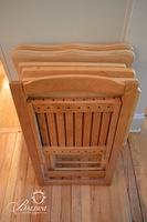 Blonde Wood Portable Trays & Blonde Wood Side Chair