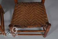 (2) Low Seat Ladder Back Chairs