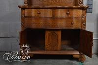 Mirrored Back Oak Sideboard