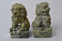 Pair of Granite Lions