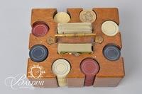 Poker Chip Set with Wooden Holder