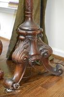 3-Footed Solid Wood Floor Lamp with Fringed Shade