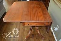Solid Wood Drop Leaf Table with Nice Dovetailing and Single Drawer