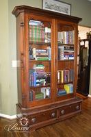 Victorian Eastlake Two Door Bookcase