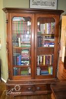 Victorian Eastlake Two Door Bookcase