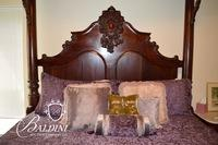 King Size Half Tester Bed with Magnificent Satin Canopy