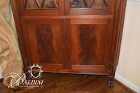 Corner China Cabinet with Two Glass Doors