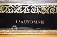 """""""L' Automne"""" Framed Art with Fancy Gold Frame"""