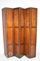 6-Panel Solid Wood Folding Screen