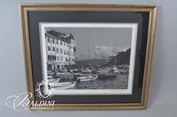 Framed Photograph of Portofino, Italy, signed