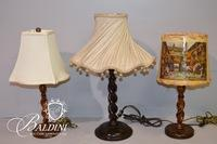 (3) Barley Twist Lamps