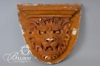 Plaster Wall Shelf with Lion Head