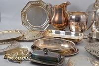 Silverplate Trays, Pots, Trivets and Other Items