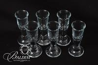 (6) Cordials with Etching Mark on Bottom