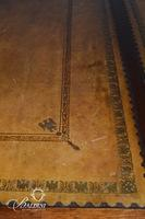 Important Antique Regency Naval Partner's Desk with Tooled Eagles on Leather Top