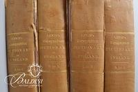 """A Topographical Dictionary of England"" by Samuel Lewis Set of (4) Books"