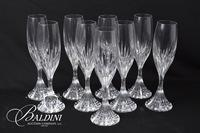 (9) Baccarat Crystal Champagne Flutes