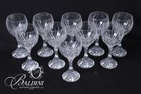 (9) Baccarat Crystal White Wine Glasses